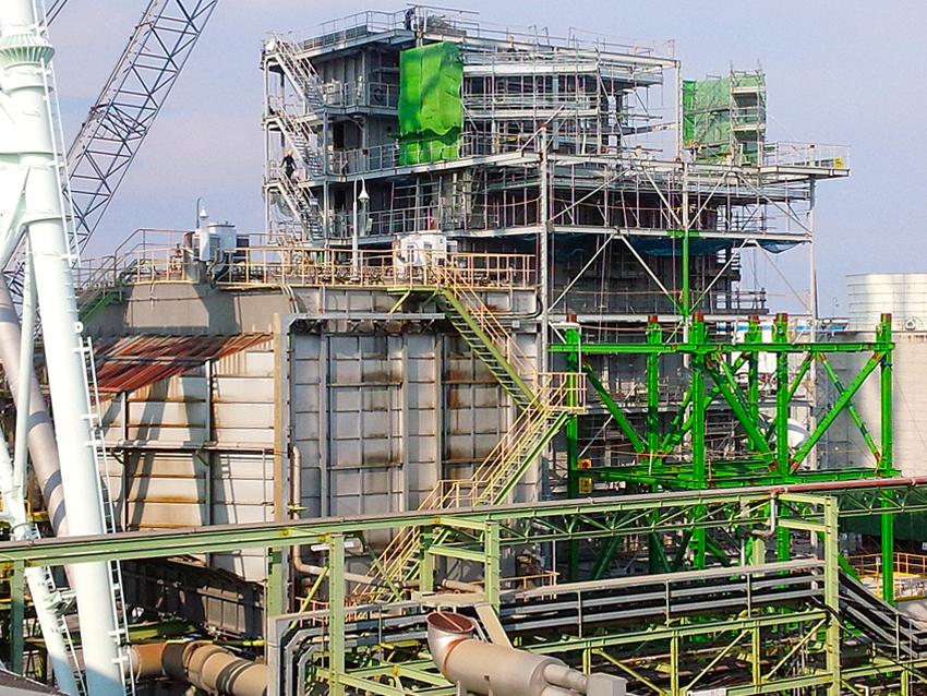 岡山県 排煙脱硫装置 製作・据付工事